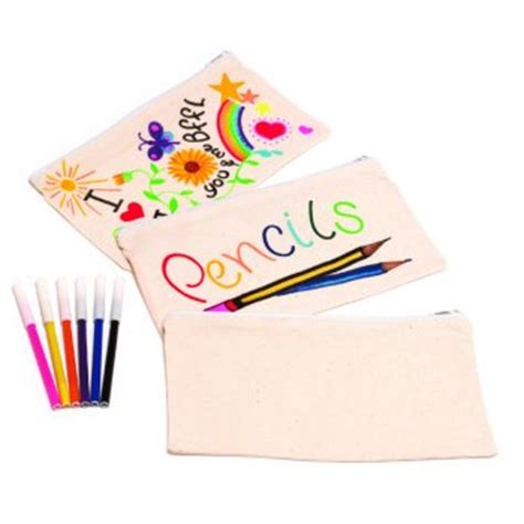 How To Decorate A Pencil Pouch by Design Decorate Your Own Fabric Pencil Crafty