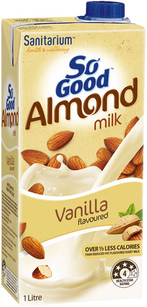 Monchan Almond Milk Almond Vanilla 250ml so almond milk vanilla flavoured so