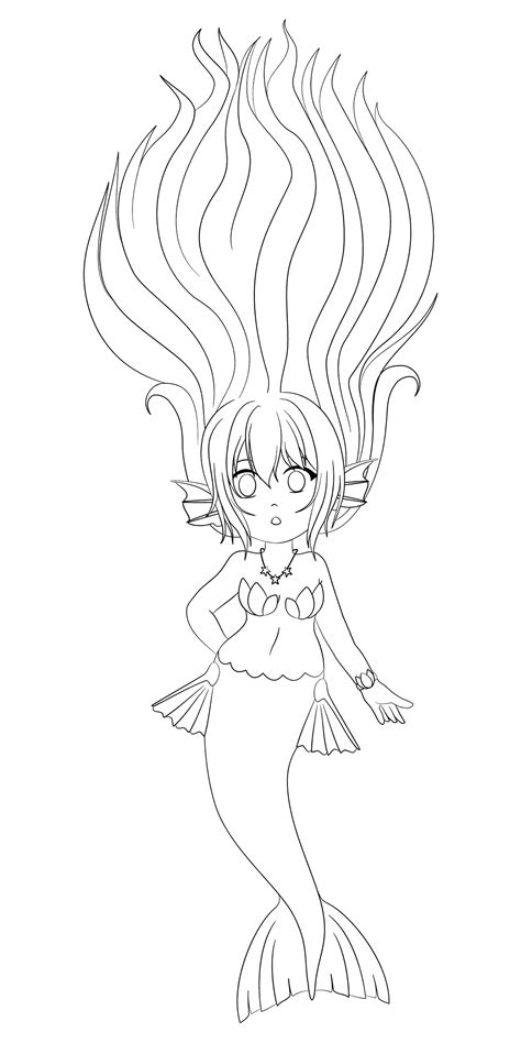 chibi mermaid lineart by kaitoucoon on deviantart mermay2017 1 chibi mermaid lineart by acial on