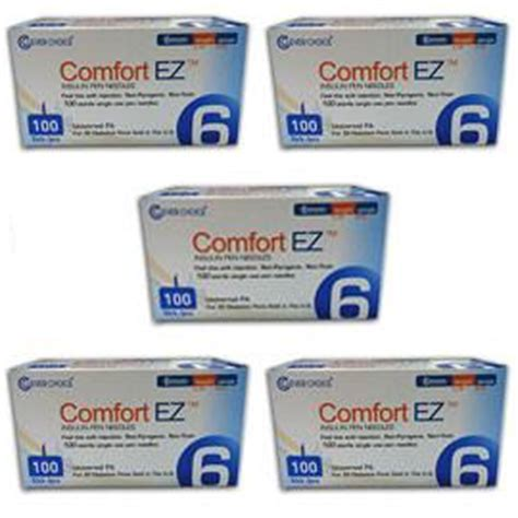comfort ez pen needles comfort ez pen needles 31g 6mm 1 4 quot bx 100 case of 5