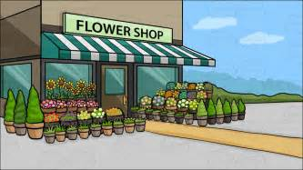 Home Awning Ideas A Quaint Flower Shop Background Cartoon Clipart Vector Toons