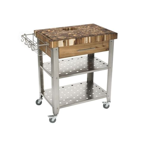 chris chris pro stadium stainless steel kitchen cart