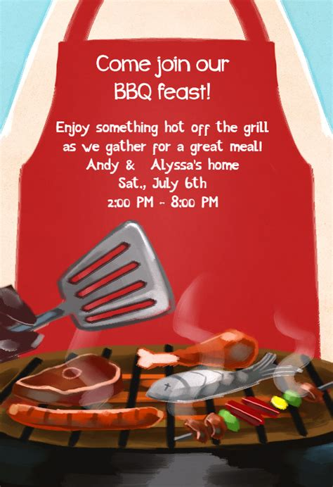 Braai Invitation Template