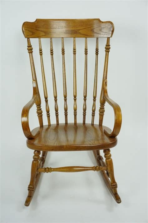 antique ethan allen rocking chair vintage oak ethan allen rocking chair