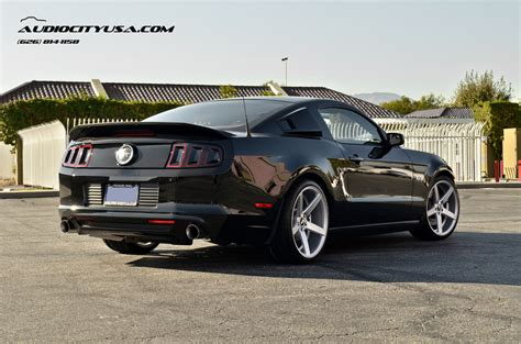 2014 mustang gt rims 20 quot str 607 silver concave on 2014 ford mustang