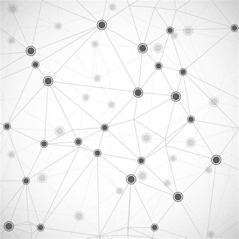 design pattern network white background with technological links vector free