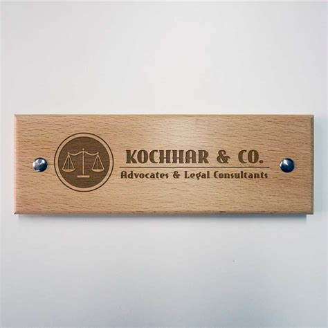 wooden name plates for engraved wooden name plate for advocates