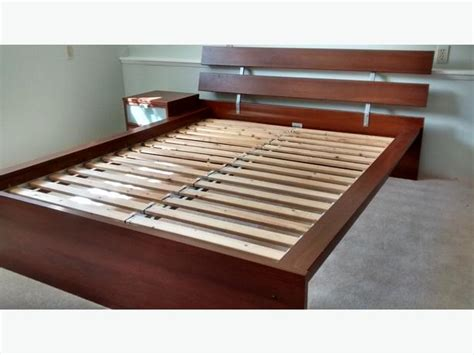 ikea hopen queen bed frame and side table saanich victoria