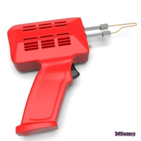 Solder Model Pistol Tembak Dekko soldering gun 3d model obj fbx blend cgtrader