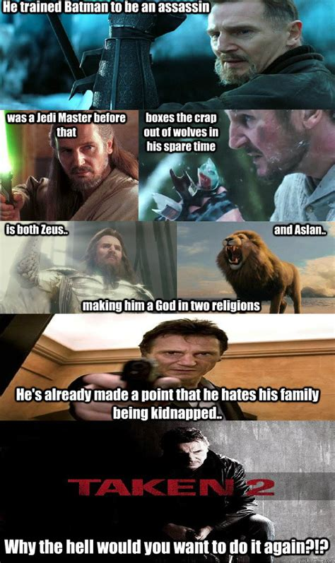 Liam Neeson Memes - he trained batman to be an assassin was a jedi master
