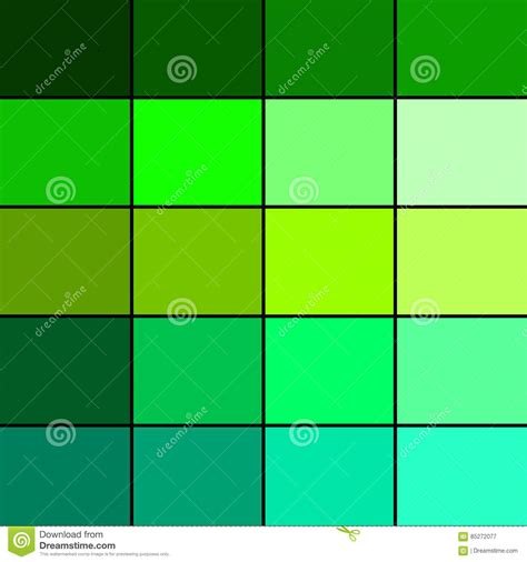 types of green color green color palette stock illustration image of pattern