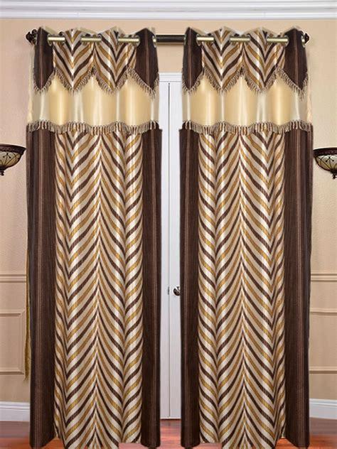 fancy door curtains buy set of 2 jbg fancy lace v design door curtains brown