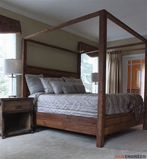 Diy Canopy Bed Frame 25 Best Ideas About Diy Bed On Pinterest Diy Bed Frame Bed Frames And Bed Frame And Mattress