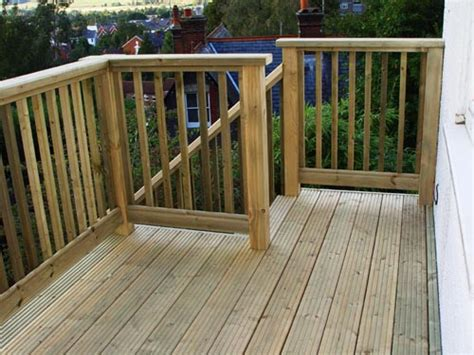 garden banister decking balustrade offers privacy to deck area carehomedecor