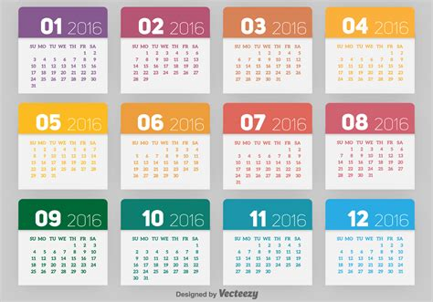 2016 calendar free vector stock graphics