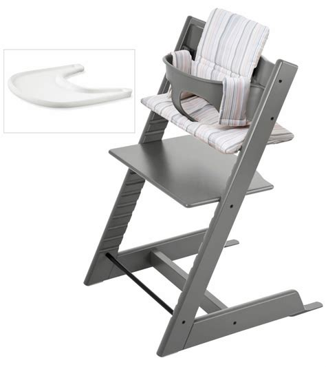 Table And Chair For Toddler Stokke Tripp Trapp Bundle Storm Grey Soft Stripe