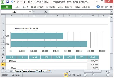 Sales Commission Tracking Template For Microsoft Excel Sales Commission Tracker Template For Excel 2013