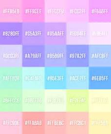 pastel color codes made a pastel palette pastelette for myself in