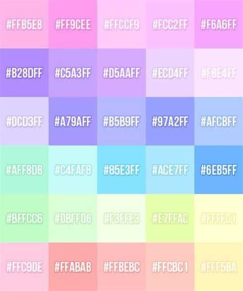 Garskin Yi Pastel Color 1 made a pastel palette pastelette for myself in photoshop for fabric and plastic type textures