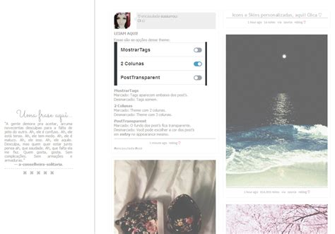 themes para tumblr quatro colunas themes