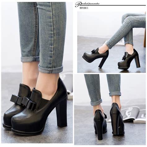 Sepatu High 12cm jual shh1505 black sepatu heels pumps pesta 12cm grosirimpor