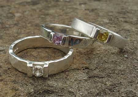 Handcrafted Engagement Rings Uk - handmade sapphire silver engagement ring love2have in
