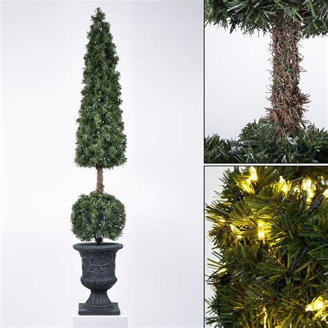 pre lit artificial topiary trees pre lit premium artificial topiary tree home garden patio