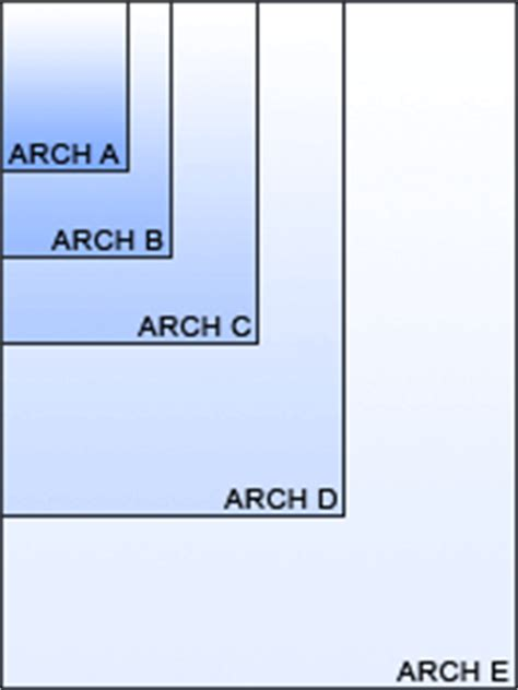 what size paper are blueprints printed on drawing size reference table architectural and