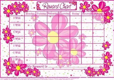 Barbie Wall Stickers flower power child s reward chart cup171162 614