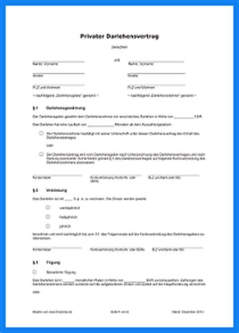 Muster Privater Darlehensvertrag Darlehensvertrag Vorlage Invitation Templated