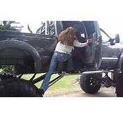 Girl Cant Get In Lifted Ford Truck