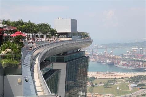 boat marina ta bay view from observation deck marina bay sands skypark