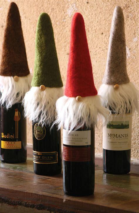 wispy beard santa wine toppers  green head