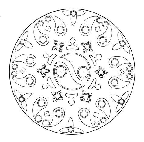 yin yang mandala coloring pages mandala madness a yin yang mandala to color