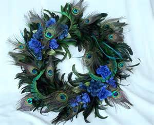 Peacock Feather Decorations Home by Peacock Home Decor Wreath Natural Feathers