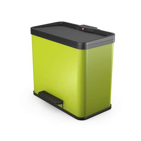 poubelle de cuisine tri s駘ectif 2 bacs poubelle tri selectif trento 214 ko duo 19 11 litres