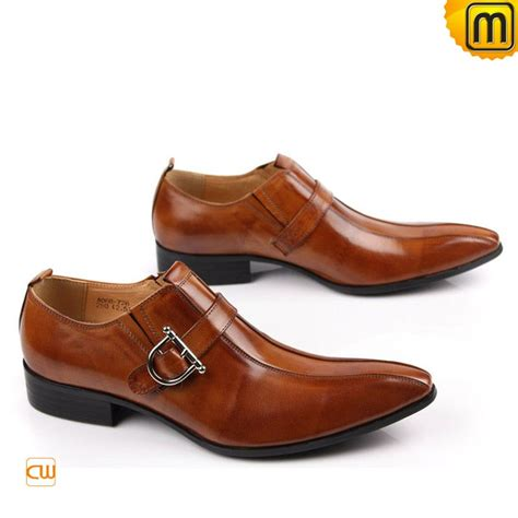 mens brown italian leather dress shoes cw763072