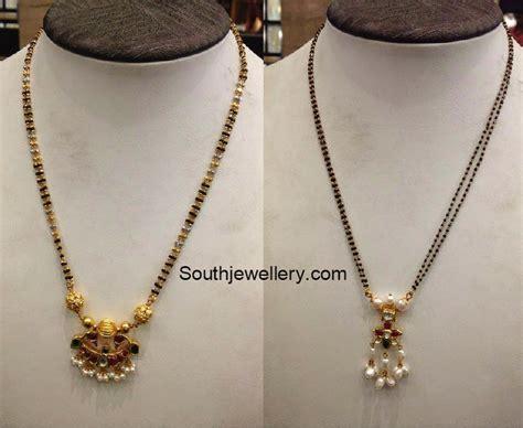 gold black chains models black mangalsutra designs jewellery designs