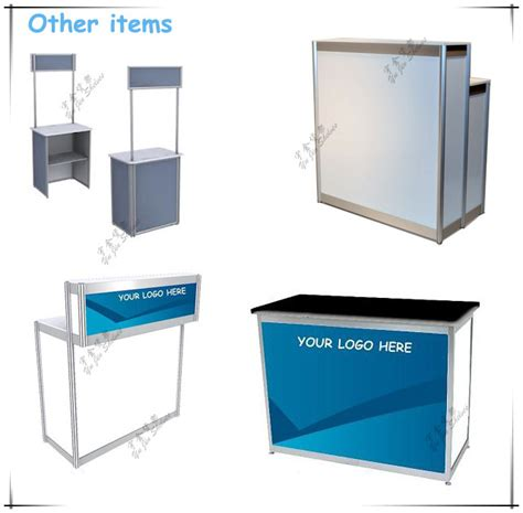Free Standing Kitchen Exhibition Stand Display Portable Glass Aluminum Display