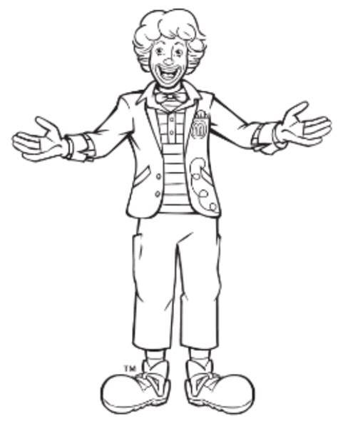 mcdonalds coloring pages at coloring page of a mcdonalds