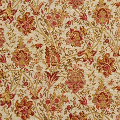 tapestry upholstery fabrics tuscany beige and burgundy ornate large flower pattern tapestry upholstery fabric