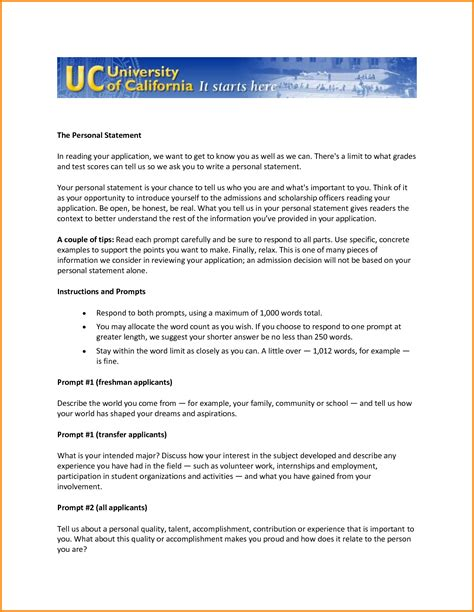 Uc Transfer Letter Of Recommendation 8 Uc Application Personal Statement Workout Spreadsheet