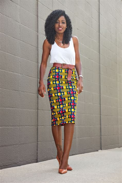pencil skirt and blouse ankara style blackhairstylecuts