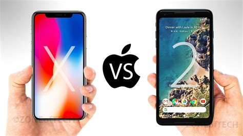 iphone x vs pixel 2 xl