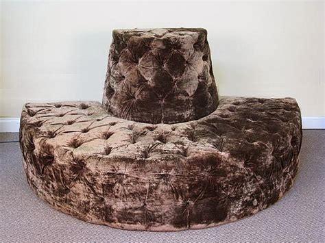 half round couch tufted velvet half round lobby sofa