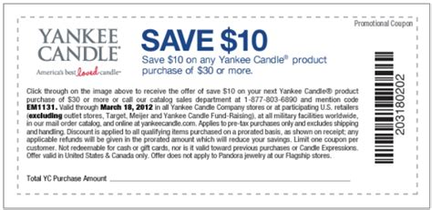current printable yankee candle coupons yankee candle printable coupon