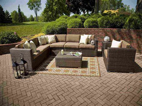 wicker outdoor furniture set outdoor wicker sectional patio furniture decor