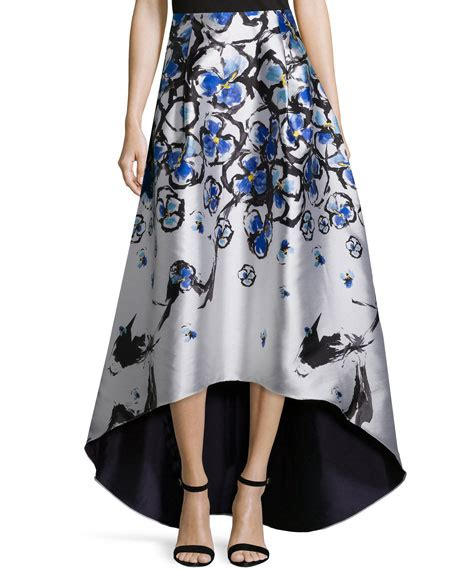 sachin babi floral print high low skirt