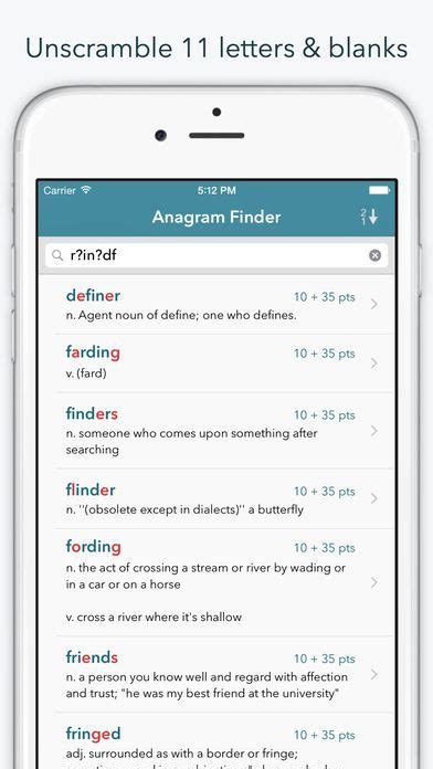 dictionary word finder word lookup pro dictionary and anagram finder quot for words