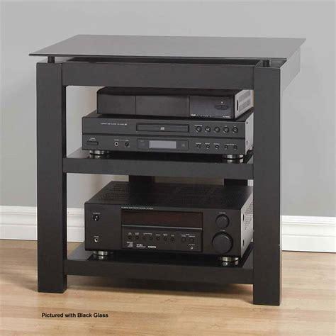 Series B 26 I plateau sl series floating 3 shelf audio rack black clear